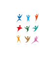 people sports symbols vector image vector image