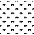 polar bear howl pattern seamless vector image