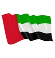 political waving flag of united arab emirates vector image