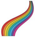 rainbow on white background vector image vector image
