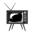 retro tv set concept vector image vector image