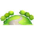 Road and nature vector image vector image