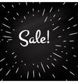 Sale -typographic design vector image vector image