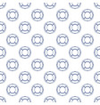 seamless pattern with lifebuoy line style vector image vector image