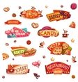 Set of brightly banners for market shop vector image