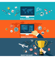 Set of business strategy and creative process vector image