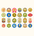 set of of colored icons vector image vector image