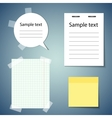 Set of realistic paper stickers for your website vector image vector image