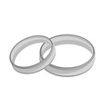 Silver wedding rings vector image