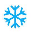 snowflake symbol christmas snow icon vector image vector image