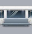 subway car interior vector image