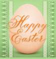 the easter egg with an ukrainian vector image vector image