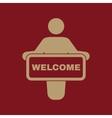 The welcom icon Invite symbol Flat
