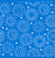 virus types seamless pattern in thin line style vector image vector image