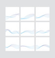 waves blue lines created using blend tool vector image vector image