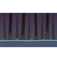 Winter Forest Game Cartoon Background vector image
