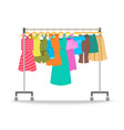 women summer casual clothes on hanger rack vector image vector image