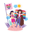 women supporting lgtbi march design vector image