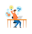 young developer programmer working flat character vector image vector image