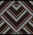 zigzag halftone geometric 3d seamless pattern vector image vector image