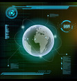 planet earth and satellites futuristic hud vector image