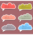 Clouds bubbles for speech vector image