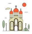 orthodox church icon vector image