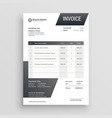 abstract black invoice template design vector image