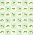 Abstract horse silhouette seamless pattern vector image
