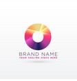 abstract letter o or circle logo design vector image