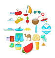 activity level icons set cartoon style vector image vector image