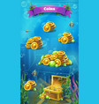 atlantis ruins - mobile format the coins window vector image vector image