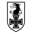 badge german air force eagle head and iron vector image