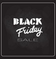 black friday flyer holiday sale label shopping vector image vector image