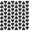black striped hearts on a white background vector image