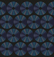 blue circle seamless pattern vector image