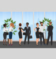 business meeting office concept flat cartoon vector image