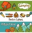 Camping Banners Horizontal vector image vector image