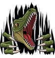 cartoon raptor mascot ripping vector image