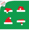 christmas hats set vector image