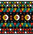 christmas retro folk holiday seamless pattern vector image vector image