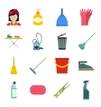 Cleaning flat icons vector image