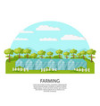colorful agronomy and agriculture concept vector image