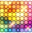 Colorful disco circles abstract background vector image vector image
