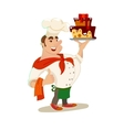 Confectioner cartoon character vector image