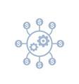 costs optimization production efficiency icon vector image vector image