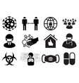covid19-19 danger signs set vector image vector image