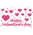 cute valentines greeting card with red heart and vector image