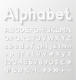 Decorative paper alphabet vector image