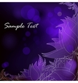 Deep blue background with purple stylized flowers vector image vector image